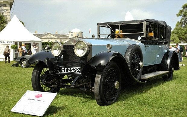 1924 Rolls-Royce Silver Ghost as normally displayed with the royal collection at Sandringham. It was commissioned by Lord Louis Mountbatten, the uncle of the Duke of Edinburgh, and used as his official car when he oversaw the transition to independence of India in 1947-48