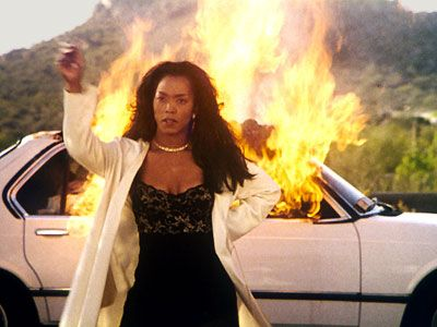 """Waiting to Exhale"". Angela Bassett was another level of fierce in the scene above. Just cold as hell."