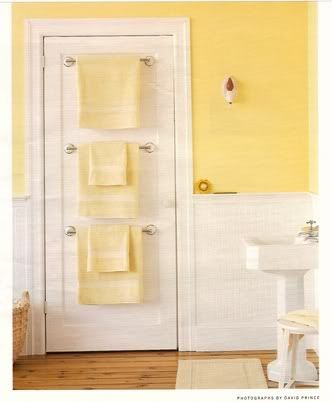 Towel Rails On The Back Of A Door Very Orderly For Similar Towelrails Yellow Bathroomssmall