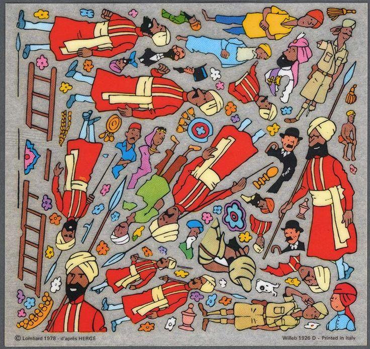 Décalcomanies - Tintin - Les cigares du pharaon