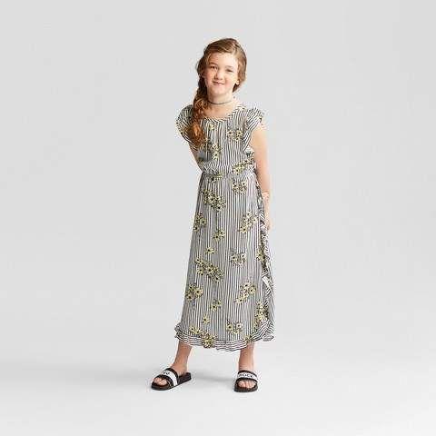 Art Class Girls Ruffle Maxi Dress Art Class Ivory Xs Features