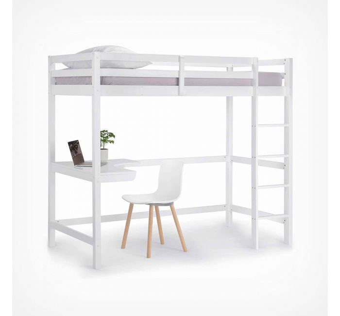 Pine Study Bunk Bed Bunk Bed With Desk Bunk Beds For Girls Room Bunk Beds