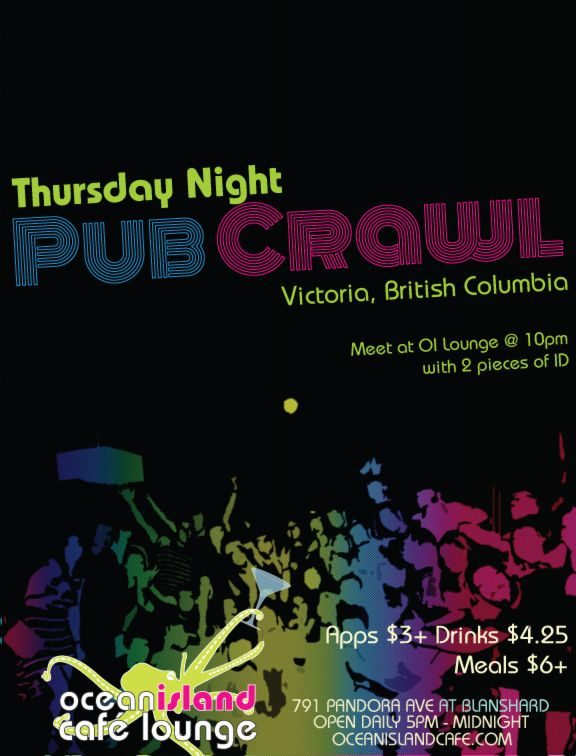 Ocean Island pub crawl every Thursday night - always, ALWAYS a great time!!