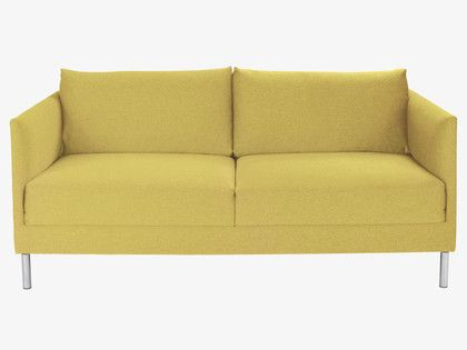 HYDE YELLOWS Fabric Saffron yellow fabric 2 seat sofa - HabitatUK