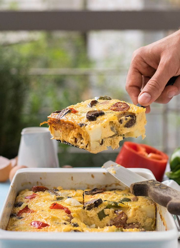 Greek oven baked frittata