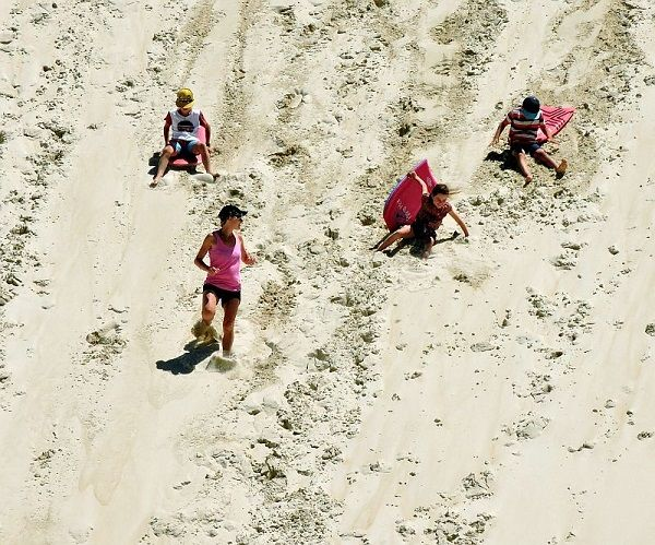 Fun for all the family at Henty Dunes #Strahan #Tasmania Photo by Dan Fellow, article for think-tasmania.com