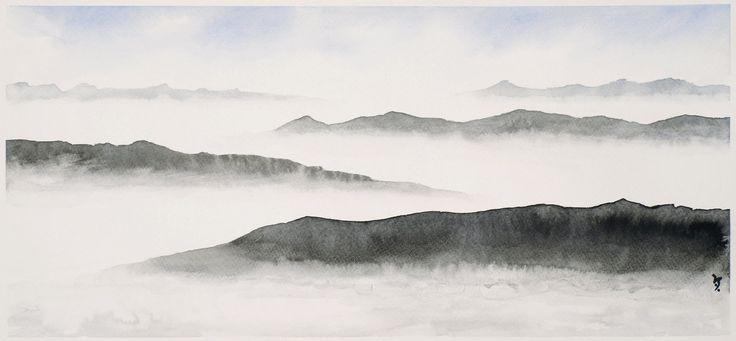 Cloudy hills by Inkingart on DeviantArt