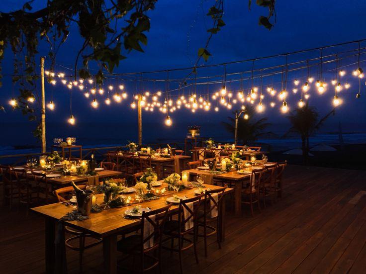 Weddings reception beachfront