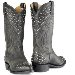 Frye Dames Billy Studded Boots Black