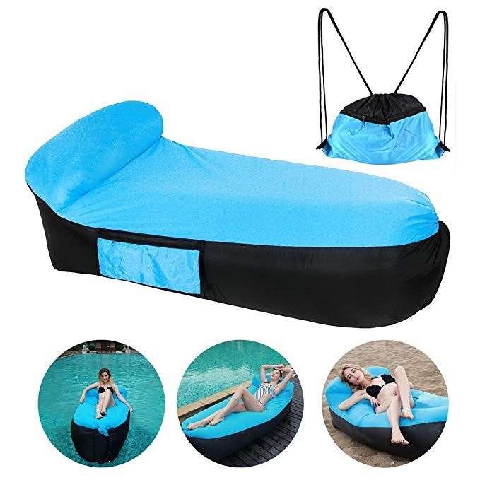 Cooskin Inflatable Lounger Air Sofa Bed Lounge Beach Chair With U