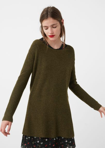 Mango Outlet Ribbed cotton-blend sweater