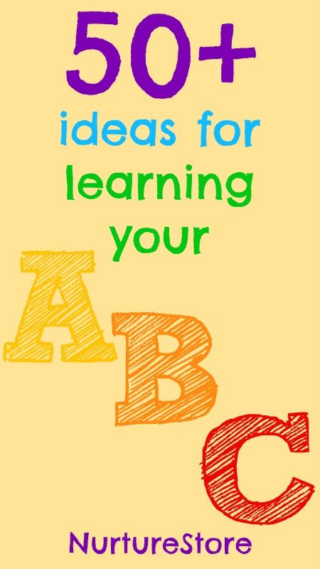 Over fifty ideas to help children enjoy learning their ABCs - packed full of ideas!