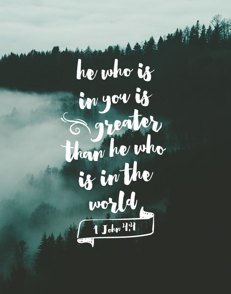 Thank you God that everything in Your word is true! He who is living in me is greater than he who is living in the world (: