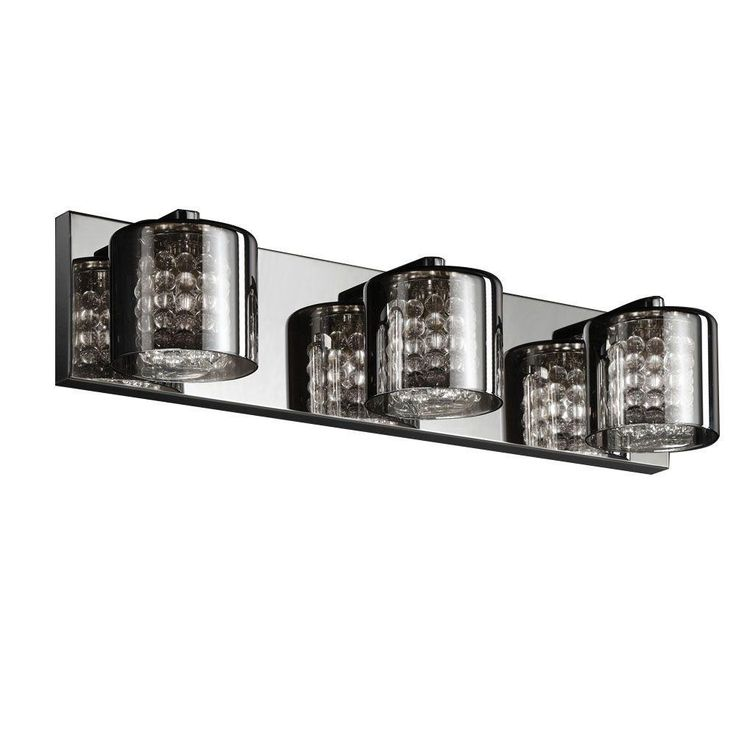 Unique Chrome Vanity Lights : 231 best Lighting & Fans images on Pinterest Home depot, Ceiling fans and Bathroom ideas