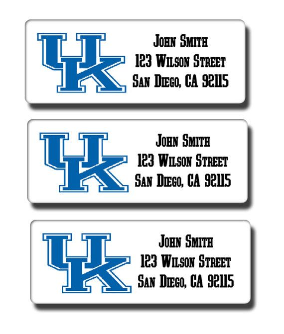 University of Kentucky Wildcats Return Address Labels - Customized For You - College Sports Team Logo