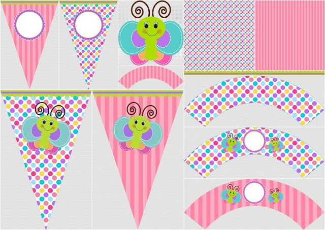Funny Butterfly: Free Printable Images, Backgrounds and Party Printables. | Oh My Baby!