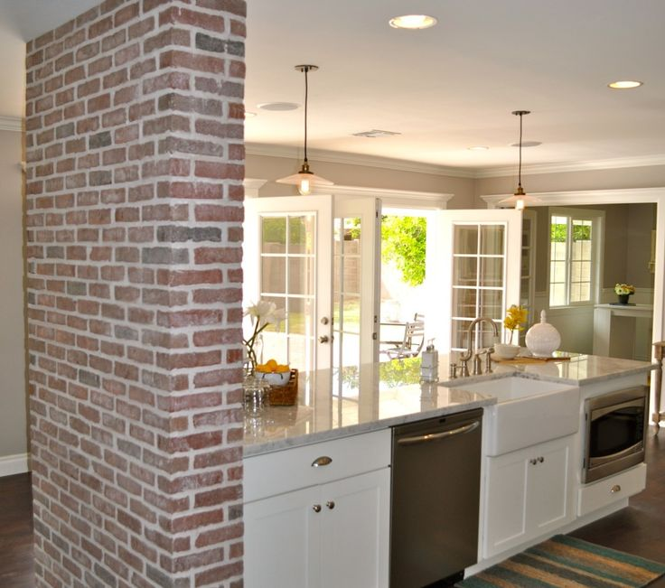 Galley Kitchen With Half Wall: 32 Best Images About One Wall Kitchens On Pinterest