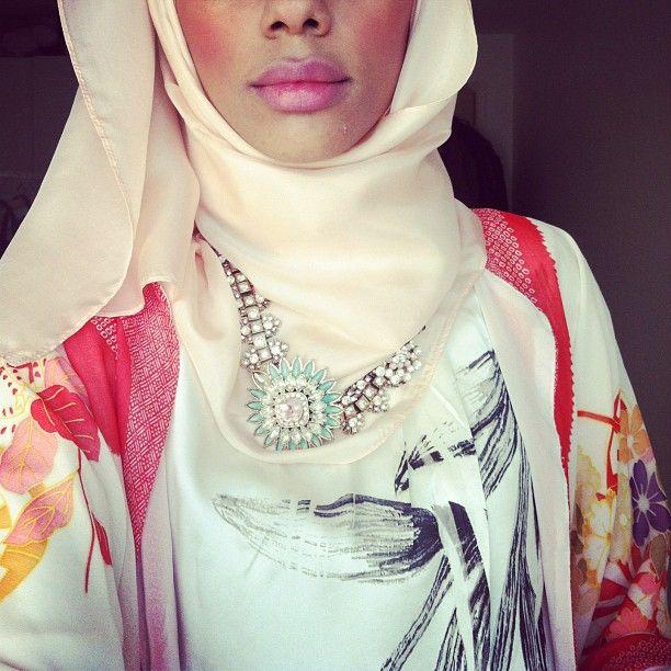 Blogger and aspiring designer Zinah in her statement style. Fashion Fighting Famine 2013 #Eidstyle @caroline k. k. Theslöf Nur