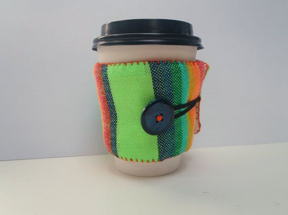 Coffee Sleeve Cozy Drink Wrap Reusable by NellywithWings on Etsy, $9.50