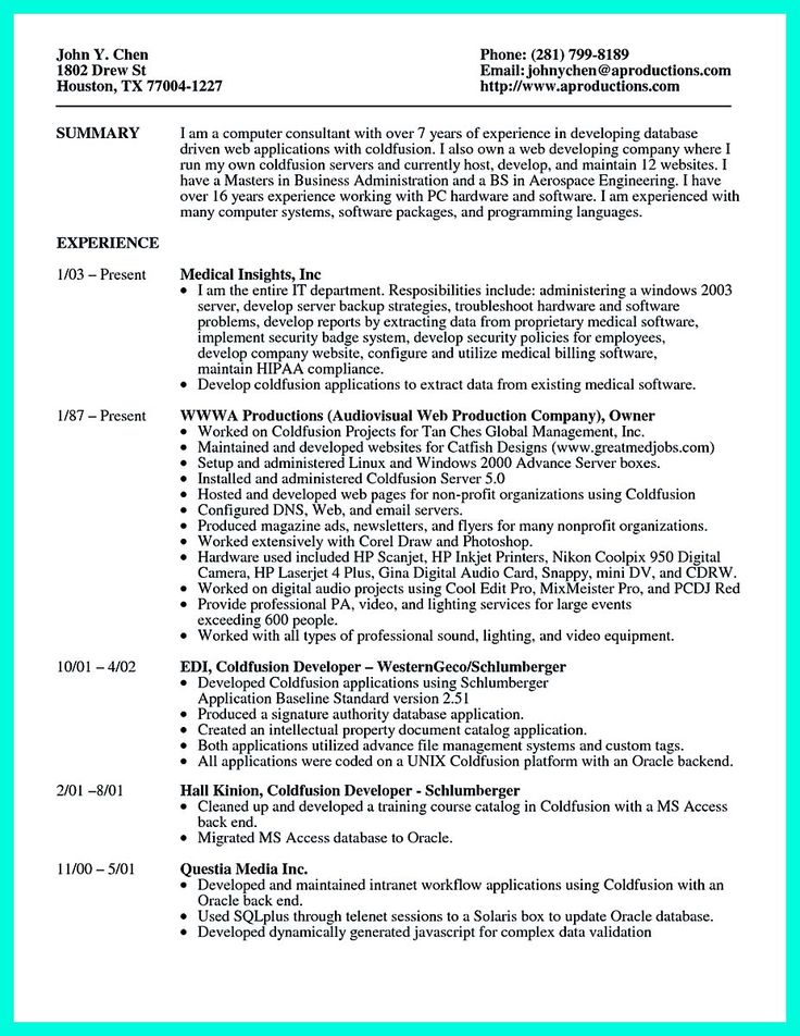 cool Computer Programmer Resume Examples to Impress