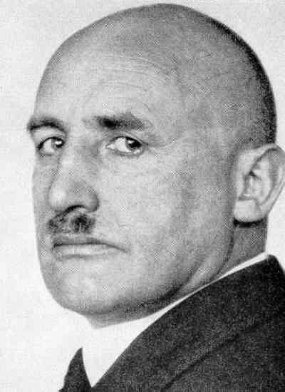 """Julius Streicher - Owner and publisher of the anti-Semitic weekly, Der Stürmer, and one of the most despicable creatures to emerge from the Third Reich. Der Stürmer was the Natl. Enquirer über alles of it's day, substituting pornographic accounts of Jewish men raping German maidens for gossip, and re-introducing the """"blood libel"""" against the Jews, accusing them of murdering German children and using the blood to make bread for holy festivals. Streicher was hanged for war crimes in 1946."""
