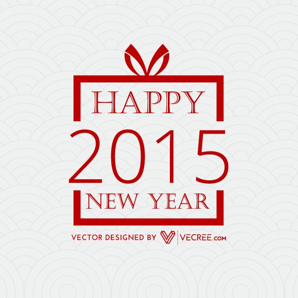Creative Happy New Year 2015 Design Vector