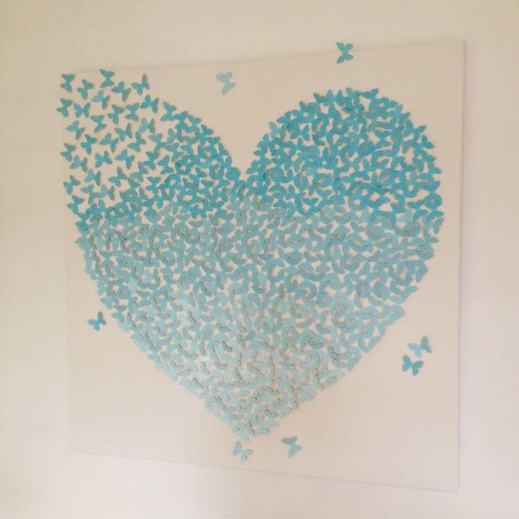 21 best 3d vlinder canvas doek - bruiloft / huwelijk / persoonlijk, Deco ideeën
