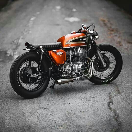 honda cb 750 four estilo brat e cor laranja motos. Black Bedroom Furniture Sets. Home Design Ideas
