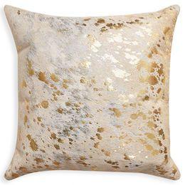 Daring Details - Cowhide Metallic Throw Pillow