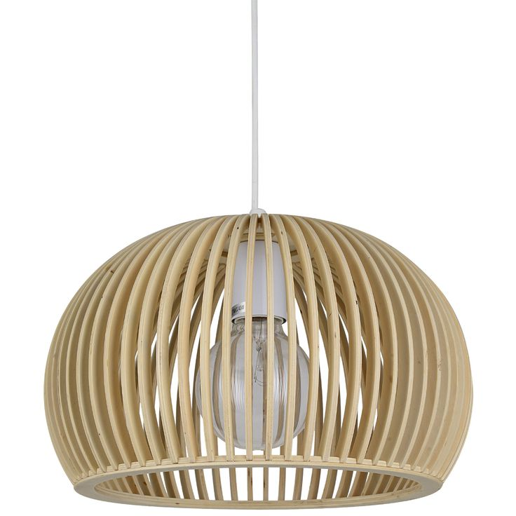 Lampy ATTO Round Laminated Timber Pendant Light