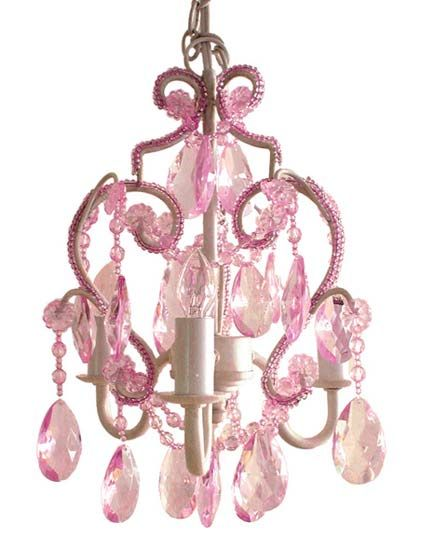 Pink Crystal Chandelier : Crystal Glass Teardrops Girls Chandelier Pink  Crystal Mini Chandelier Girls Room