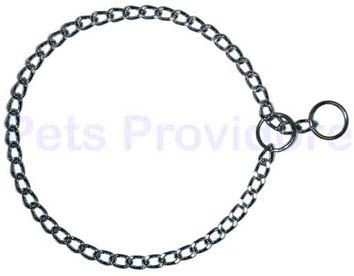 3.00mm chrome plated Flat link Check Chain collar made by Herm. Sprenger in Germany. Sizes 40cm, 45cm, 50cm, 55cm, 60cm & 65cm. 51122