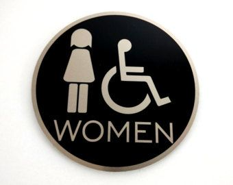 Aluminium Toilet Door Sign, Metal WC Plaque, Cabin Sign, Restroom Sign, WC Plate, Toilet Plate, Toilet Plaque, Bathroom, Toilet Room