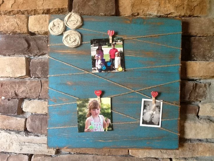 Picture Holder / Memo Board by HendryxHouseDesigns on Etsy, $25.00