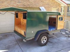 home built camping trailers | Homemade Camper Trailer                                                                                                                                                     More
