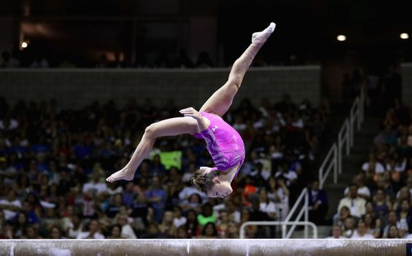 Ragan Smith Photos Photos - Ragan Smith competes on the balance beam during Day 2 of the 2016 U.S. Women's Gymnastics Olympic Trials at SAP Center on July 10, 2016 in San Jose, California. - 2016 U.S. Olympic Trials - Women's Gymnastics - Day 2