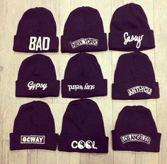 beanies for girls with sayings - Google Search
