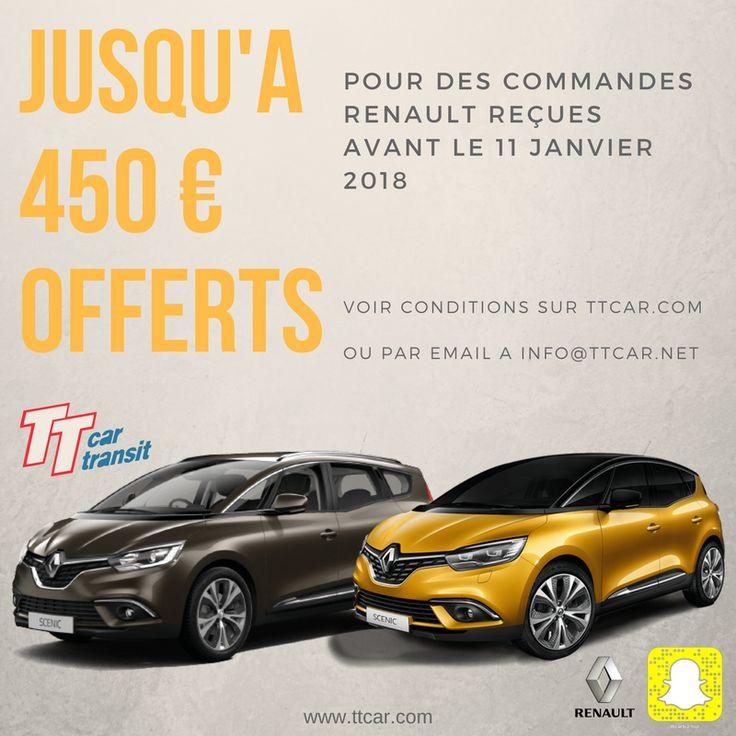 Nouvelles #promotions #Renault #Eurodrive, jusqu'à 450€ offerts. Uniquement sur #ttcar #ttcartransit #expat #expatlife. Détails sur http://bit.ly/2yH0h0S