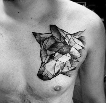 tatuajes geometricos para hombres de animales