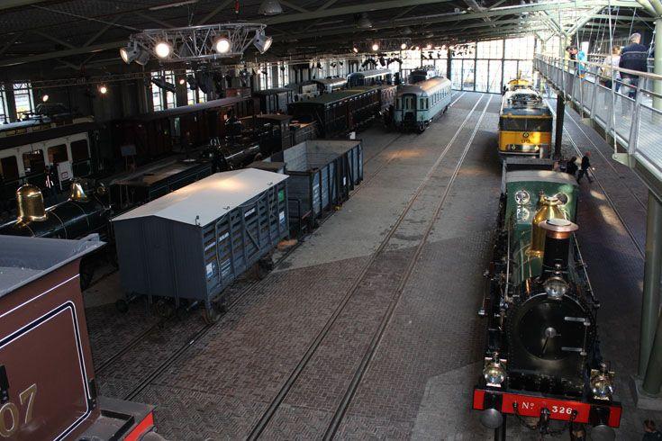 In het Spoorwegmuseum zijn natuurlijk ook 'gewoon' heel veel treinen te bewonderen