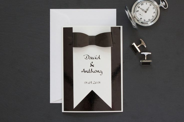 We love the theme of #tuxedo on our #wedding #papeterie | lucyvanbarnes.de