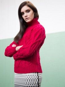 Aran Turtleneck Sweater R2080