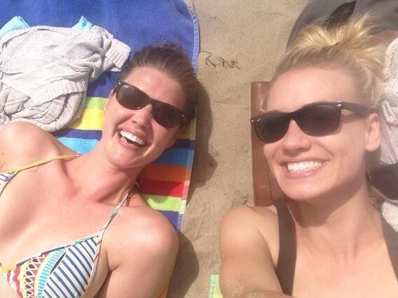 Sarah Lancaster and Yvonne Strahovski Twipic June 2013 - 2