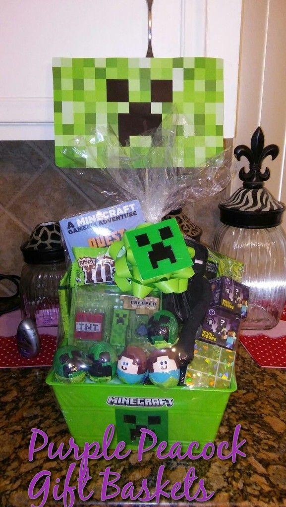 Minecraft Easter Basket Easter Basket Diy Easter Kids Minecraft Easter Basket