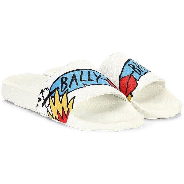 Bally Bally X Swizz Beatz Slanter Canvas Slides Sandals ($175) ❤ liked on Polyvore featuring men's fashion, men's shoes, men's sandals, mens leopard print shoes, mens canvas shoes, mens sandals, mens shoes and mens open toe sandals