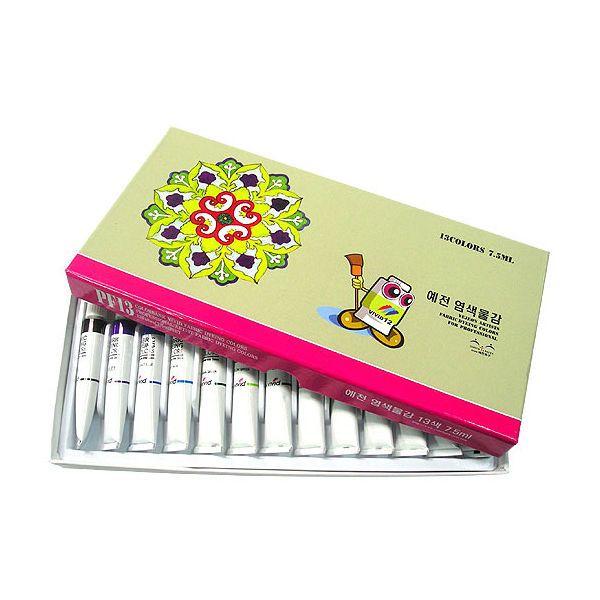 Dye Textile Fabric Paint Colorbank Vivid 13 Colors Set 7.5m 0.25oz Tube Deco Art #ColorBank
