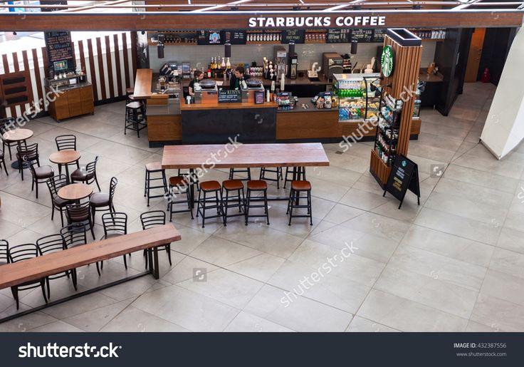 Samara, Russia - May 22, 2016: Starbucks Cafe In Samara Kurumoch Airport. Starbucks Corporation Is An American Global Coffee Company And Coffeehouse Chain Stock Photo 432387556 : Shutterstock