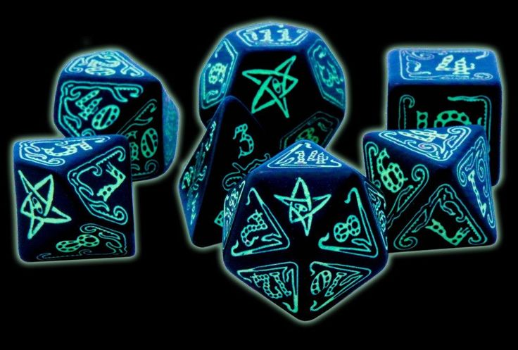 Are you afraid of the dark? There's no need to be scared with Call of Cthulhu Dice (Glow In The Dark). Licensed from Chaosium, these RPG dice are the official dice of the Call of Cthulhu RPG game. Eac