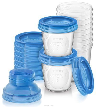 """Philips Avent Контейнеры для хранения грудного молока SCF618/10  — 1324р.  Контейнеры """"Avent"""" предназначены для герметичного хранения грудного молока и всех видов детского питания в холодильнике или морозильной камере. В наборе - 10 многоразовых контейнеров с мерной шкалой по 180 мл и крышками. Контейнеры изготовлены из безопасного полипропилена и не содержат бисфенола A. На матовой поверхности контейнеров можно делать записи, например, ставить даты. Такие контейнеры просто незаменимы в…"""