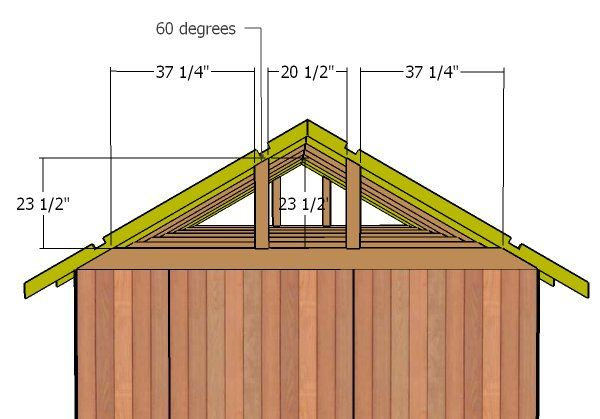 10 12 Gable Shed Roof Plans Diy Shed Plans Roof Plan Shed Roof